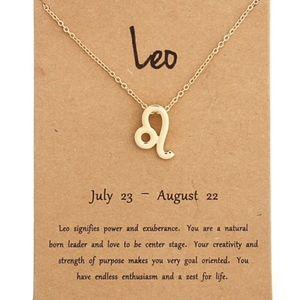 Jewelry - LEO Zodiac Gold Pendant Necklace & Card